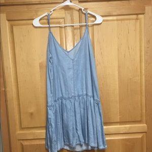 aac5f40446 American Eagle Outfitters Dresses - American eagle denim slip dress